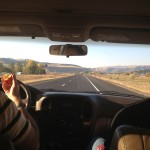 the road to Wyoming